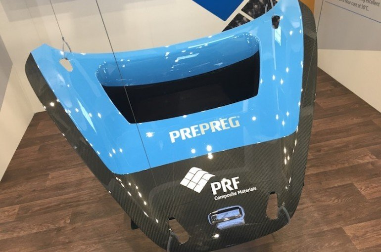 Automotive component made with PRF's RP549 prepreg system
